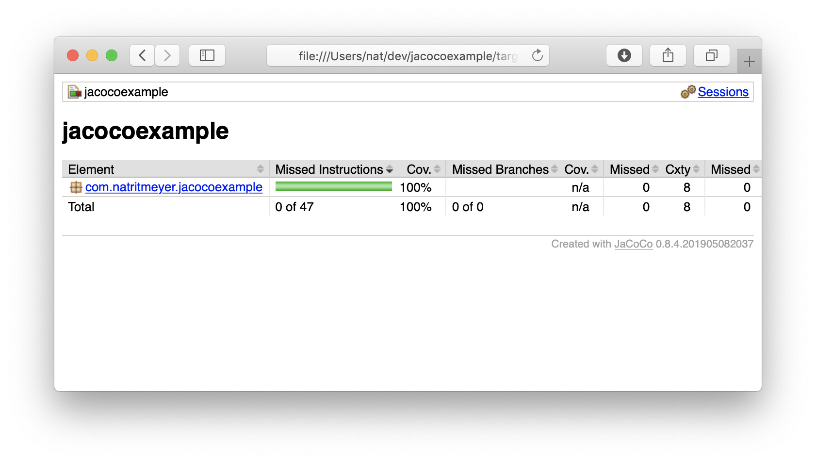 Reporting aggregated unit and integration test coverage with